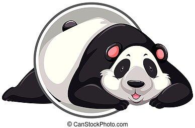 A panda sticker template
