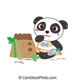a panda's beach activities