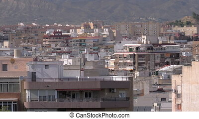 A panorama shot of Alicante urbanscape - A panoramic shot of...