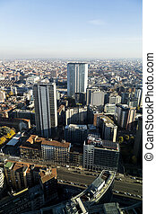 A panoramic view of Milan