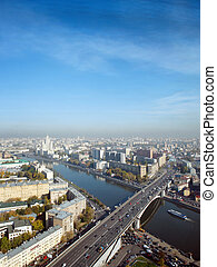 A panoramic view of the moscow city skyline