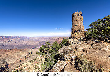 Grand Canyon Desert View Watchtower - A panoramic view of ...
