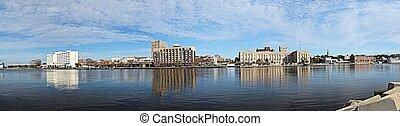 Wilmington - A panoramic view of Wilmington. North Carolina ...