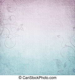 A paper background in  purple and blue