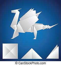 A paper dragon
