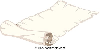 A paper roll on white background