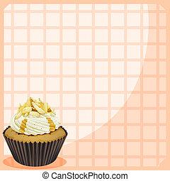 A paper with a cupcake