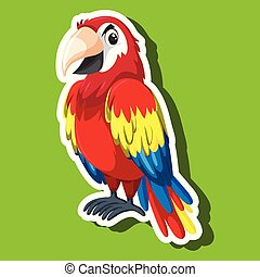 A parrot cartoon character