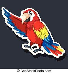 A parrot sticker character