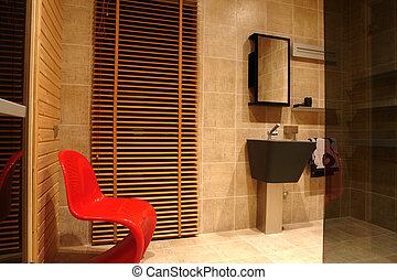 a part of bathroom