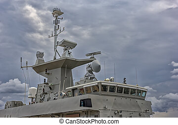 A part of military navy ship.