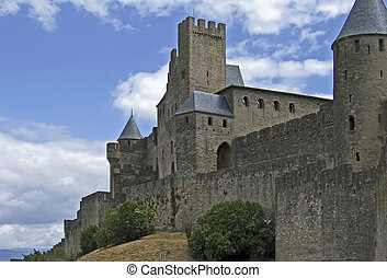 Carcassonne - A part of the medieval cite of Carcassonne in ...