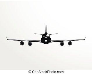 A passenger plane.