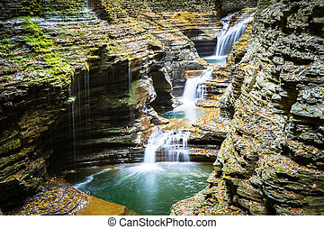 A path through small falls