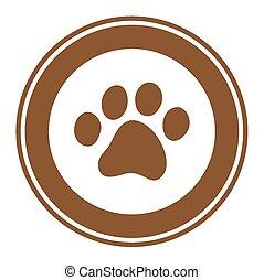 a pawprint logo