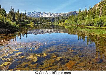 a, pazar, hegy tó