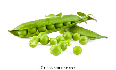 a pea is isolated on a white background