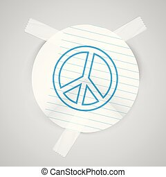 "A ""peace"" of paper, vector"