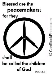 peace - A peace symbol with a Bible verse