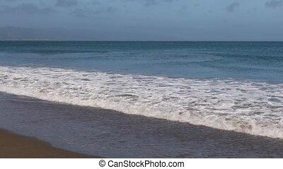A Peaceful Pacific Loop - Gentle Pacific Ocean waves break...