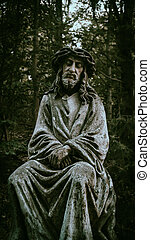 A peaceful place for meditation and communication with God is best with this stone statue of Jesus Christ, which has been here since time immemorial and is very sacred.
