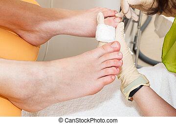 a pedicure foot
