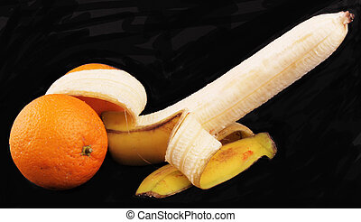 penis - A penis from a banana and oranges