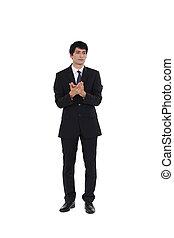 A pensive businessman.