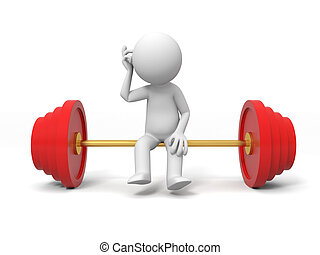 Weightlifting - A people sitting on the Weightlifting