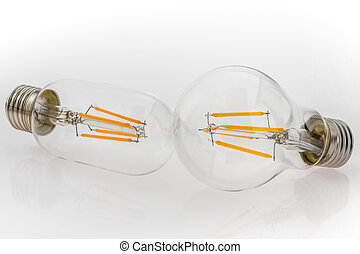 a performance different types of LED bulbs and different bulb shapes