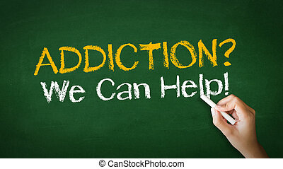 Addiction We can Help Chalk Illustration - A person drawing ...