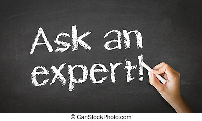 Ask an Expert Chalk Illustration - A person drawing and...
