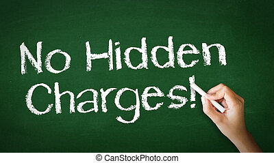 No Hidden Charges Chalk Illustration - A person drawing and...