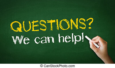 Questions, we can help Chalk Illustration