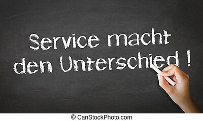 Service makes the difference Chalk Illustration