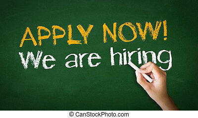 We Are Hiring Chalk Illustration - A person drawing and ...