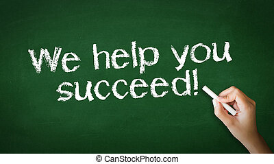 We help you succeed Chalk Illustration