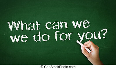 What can we do for you Chalk illustration