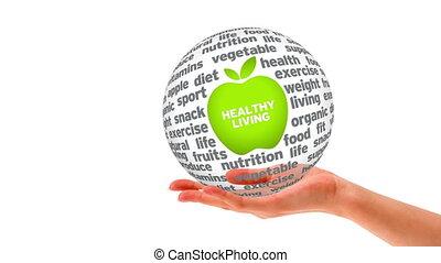 Healthy Living Word Sphere