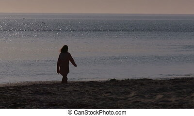 A person on the beach
