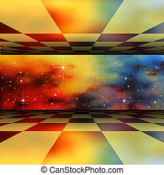 Perspective Background - A Perspective Background with Star...