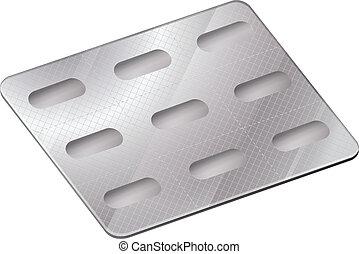 A pharmaceutical blister pack