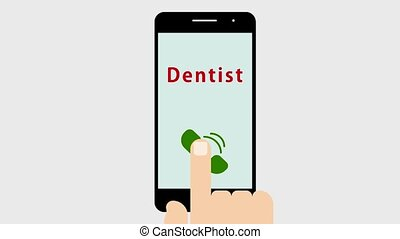 A phone call to the dentist