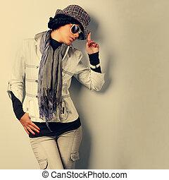 a, photo, de, sexuel, beau, girl, est, dans, mode, style