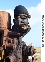 old rusty engine