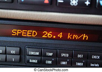 Average speed on Car board computer