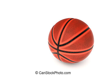 Basketball on isolate white background