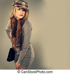 A photo of beautiful girl is in style