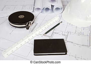 Plans - a photo of blue prints home Plans