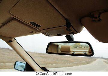 Car rearview mirror - A photo of Car rearview mirror